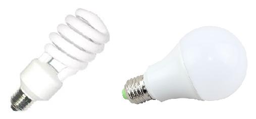 Lamparas CFL y LED